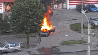 mercedes-explozie